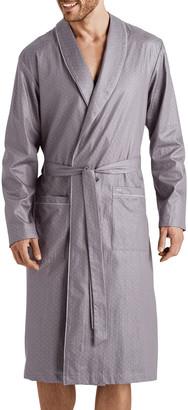 Hanro Men's Maxim Pin-Dot Cotton Robe