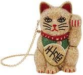 Judith Leiber Beckoning Meneki-Neko Cat Clutch, Gold, One Size