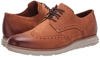 Cole Haan Original Grand Wingtip Oxford (CH British Tan Nubuck/Hawthorn) Men's Shoes