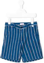 Il Gufo striped appliquée shorts