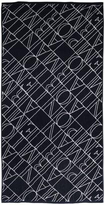 Emporio Armani All Over Logo Cotton Terry Towel