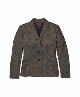 Tommy Hilfiger Women's Adaptive Glen Plaid Blazer with Magnetic Buttons