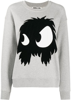 McQ Swallow Flocked Monster Sweater