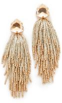 Tory Burch Stone & Tassel Earrings
