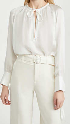 Club Monaco Shirred Tie Detail Blouse
