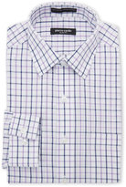 Pierre Cardin Navy& Purple Check Slim Fit Dress Shirt