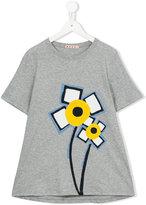 Marni flower print T-shirt - kids - Cotton - 14 yrs