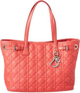 Christian Dior Pink Coated Canvas Panarea Tote