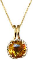 EFFY Citrine (3-1/8 ct. t.w.) and Diamond (1/6 ct. t.w.) Swirl Pendant in 14k Gold