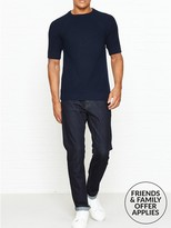 Whistles Stretch Selvedge Straight Leg Jeans