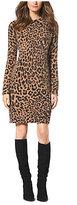 Michael Kors Cheetah-Print Angora-Blend Sweater Dress