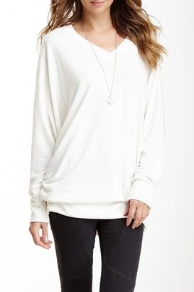 Go Couture V-Neck Dolman Sleeve Pullover