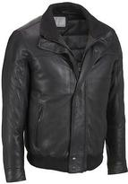 Wilsons Leather Mens Big & Tall Classic Double Collar Bomber W/ Thinsulate Linin