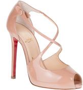 Christian Louboutin Wrap 120 patent leather sandal