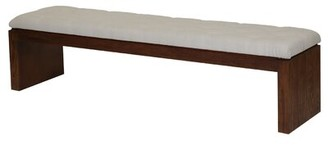 PTM Images Cannes Upholstered Bench Upholstery Color: White