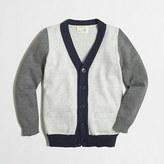 J.Crew Factory Boys' colorblock cardigan sweater