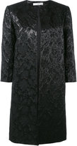 Lanvin floral brocade coat - women - Cotton/Acrylic/Polyester/Cupro - 36