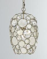 Crystorama Palla 1-Light Antiqued Silver Mini Chandelier