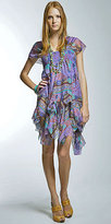 Lavender Print Cap Sleeve Dresses by Nicole Miller