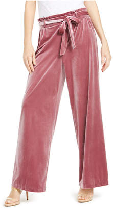 INC International Concepts Inc Velvet Wide-Leg Paperbag Pants