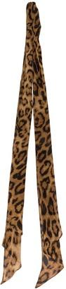 Nili Lotan Leopard Print Scarf