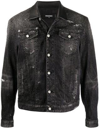 DSQUARED2 Crystal-Embellished Denim Jacket