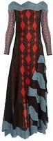 Peter Pilotto Off-the-shoulder geometric lace-knit dress