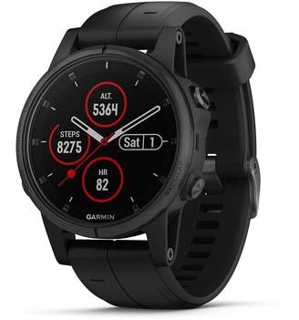 Garmin fenix 5S Plus Multi-Sport GPS Smartwatch (Sapphire Black with Black Band)