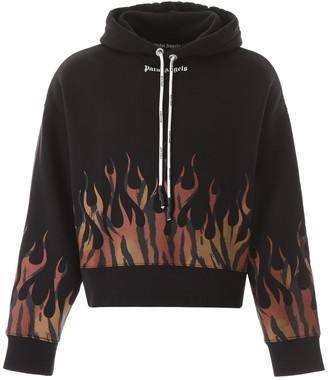 Palm Angels Tiger Flames Print Hoodie