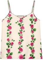 Gucci Rose Garden print silk tank