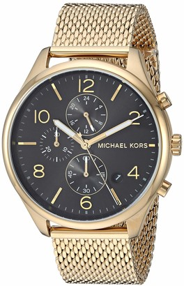 Michael Kors Men's Merrick Analog-Quartz Watch with Stainless-Steel-Plated Strap