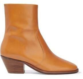 Etoile Isabel Marant Burnished-leather Ankle Boots