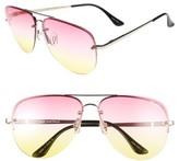 Quay Women's Muse Fade 60Mm Aviator Sunglasses - Pink