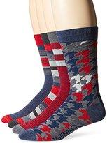 Buffalo David Bitton Men's Houndstooth Socks Giftbox (Pack of 4)