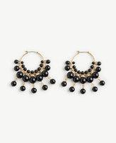 Ann Taylor Bauble Hoop Earrings
