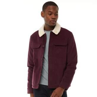 Farah Mens Kingsland Borg Collar Corduroy Jacket Red