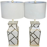 One Kings Lane Vintage Palm Beach Regency Table Lamps - nihil novi - white/chrome