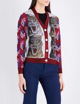 Gucci Glitter tiger cardigan