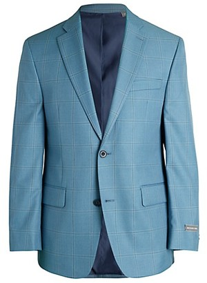 Michael Kors Classic-Fit Windowpane Check Jacket
