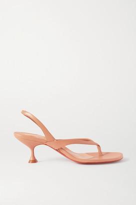 Christian Louboutin Taralita 55 Leather Slingback Sandals - Neutral