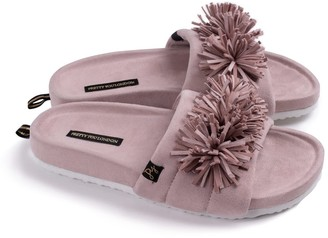 Pretty You London Albany Indoor Outdoor Slider Slipper In Mink