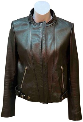 Theyskens' Theory Black Leather Jacket for Women