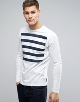 French Connection Long Sleeve 5 Stripe Top