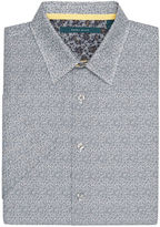 Perry Ellis Short Sleeve Dual-Colored Button-Down Shirt