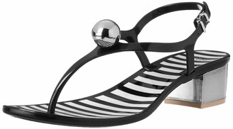Frances Valentine Women's Virginia Wedge Sandal Black 10 B US