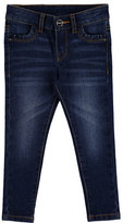 Mayoral Basic Faded Skinny Jeans, Dark Blue, Size 3-6