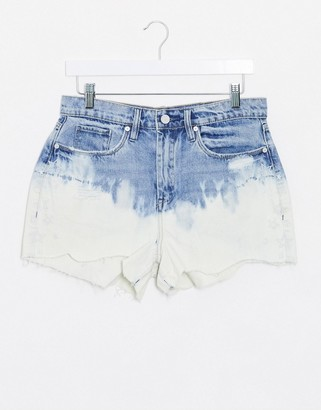 Blank NYC denim shorts in blue ombre