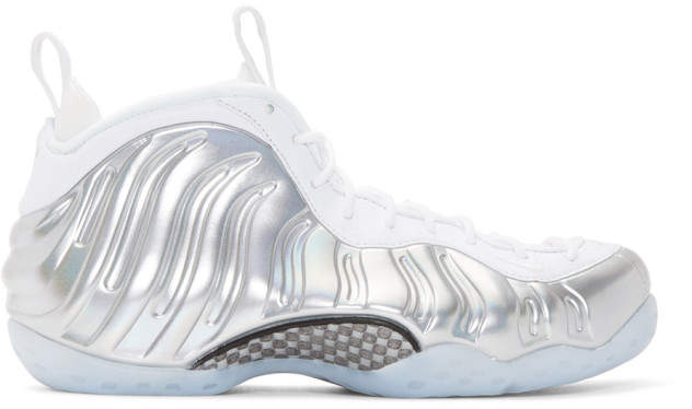 Nike White Air Foamposite One High-Top Sneakers