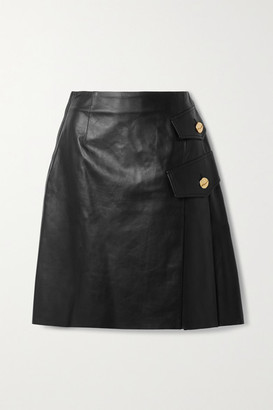 Proenza Schouler Pleated Leather Skirt - Black
