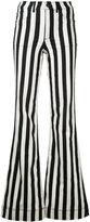 Alice + Olivia Alice+Olivia - striped wide leg jeans - women - Cotton/Polyester/Spandex/Elastane - 27